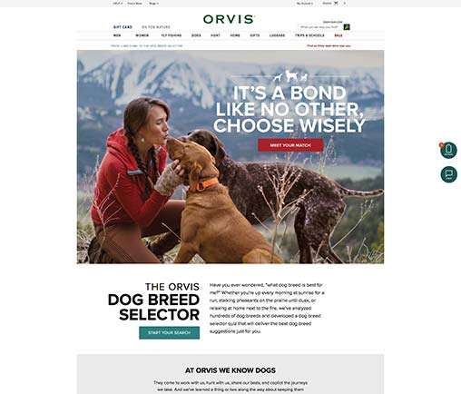 Orvis Dog Breed Selector